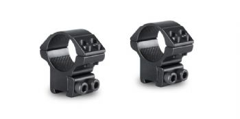 "Hawke Match Rifle Scope Mount Rings - 1"" ring Medium 9-11mm Airgun Rimfire 22101"